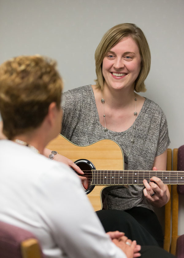 Crystal Weaver Offering Music Therapy at the Saint Louis University Cancer Center