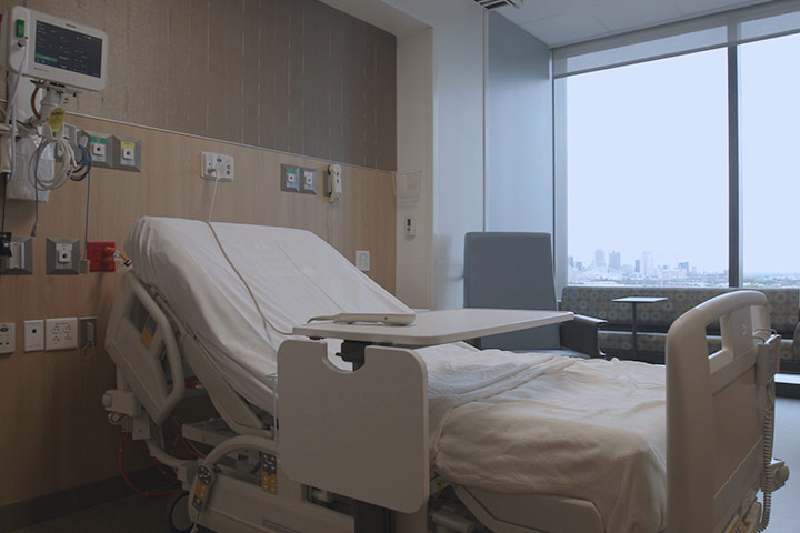 Patient Room At SSM Health Saint Louis University Hospital