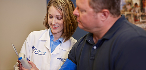 Pictured: Physician assistant Amy Krieg of the SLUCare Hypertension Clinic