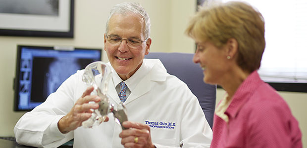 Pictured: Julie Binder and Dr. Thomas Otto of SLUCare Orthopaedics