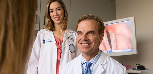 Pictured: Speech-language pathologist Michelle Payne and laryngologist Dr. John Eisenbeis