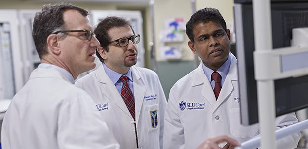 Pictured: Dr. Alex Befeler, Dr. Mustafa Nazzal, and Dr. Kirubahara Vaheesan