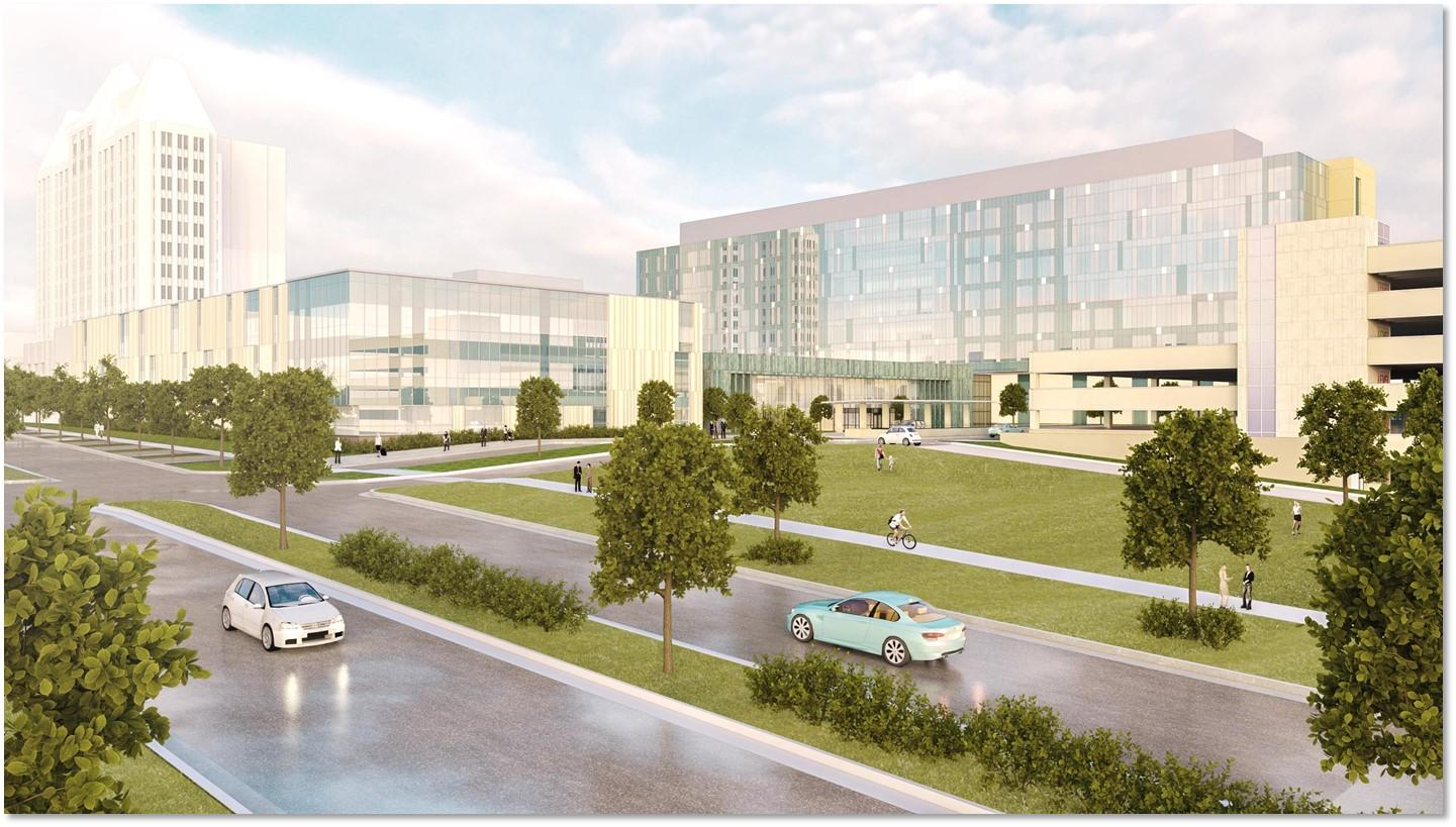 Rendering of SSM Health Saint Louis University Hospital Rendering