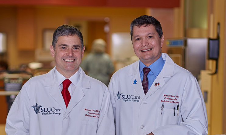Pictured: SLUCare cardiac surgeon Dr. Richard Lee and cardiologist Dr. Michael Lim