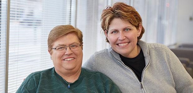 Pictured: SLUCare heart patients Mary Cagle and daughter Kim Urban