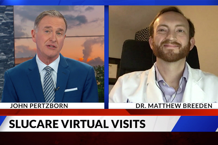 SLUCare's Dr. Matthew Breeden talks about virtual visits on Fox2Now