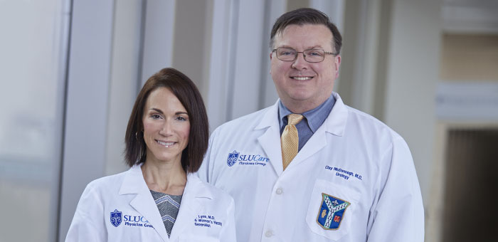 Dr. Becky Lynn and Dr. Clay McDonough