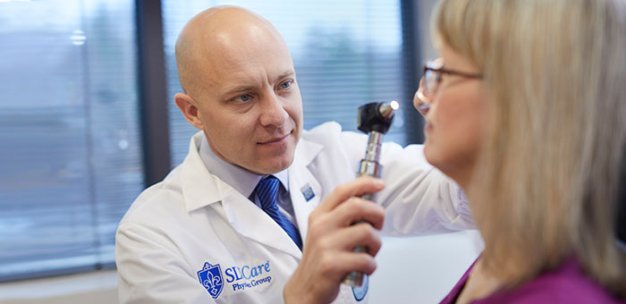 Sinusitis: Dr. Antisdel Examines a Patient
