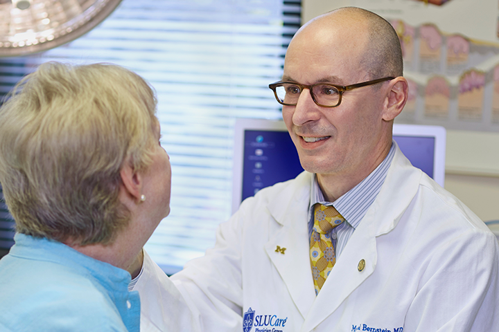 Dr. Bernstein with cancer reconstructive patient
